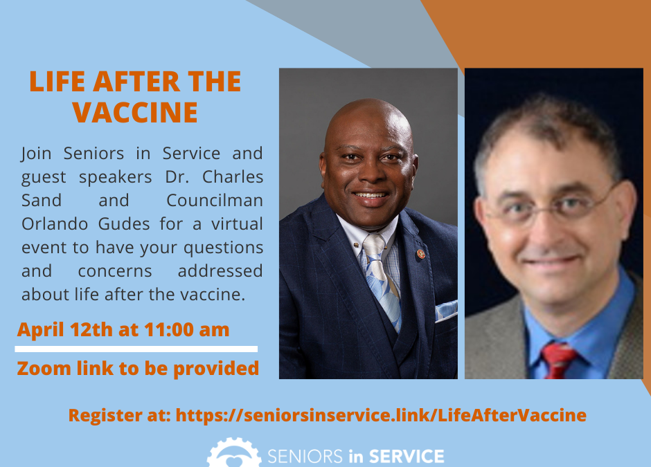 """Virtual Event """"Life After the Vaccine"""" April 12th!"""